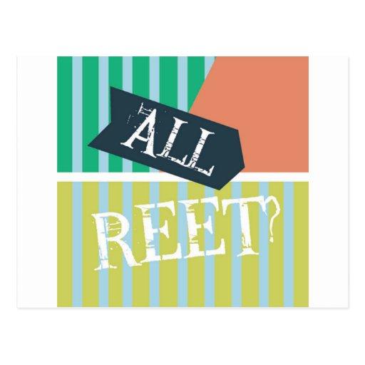 Geordie Card - All Reet? Postcards