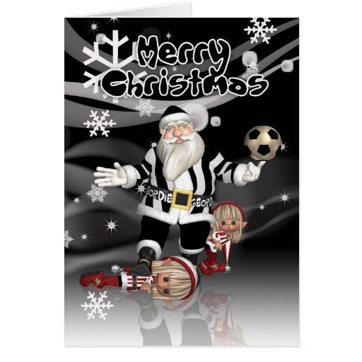 Geordie Christmas Card Santa And Little Elves