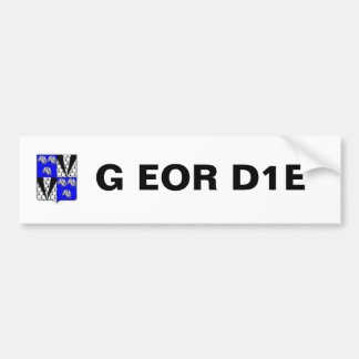 Geordie Coat Of Arms, G EOR D1E Bumper Sticker