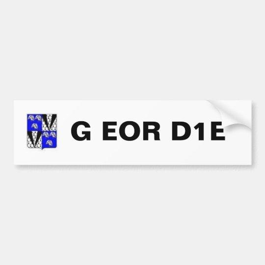 Geordie Coat Of Arms, G EOR D1E Bumper