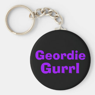 Geordie Gurrl Basic Round Button Key Ring