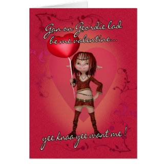 Geordie Valentine s Day Card With Forest Elf
