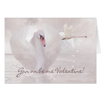 Geordie Valentine's Day Card - With Swans