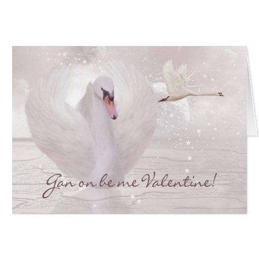 Geordie Valentine's Day Card - With Swans