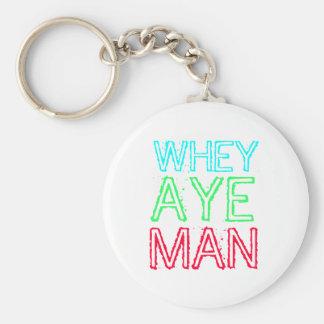 Geordie - Whey Aye Man Keychains