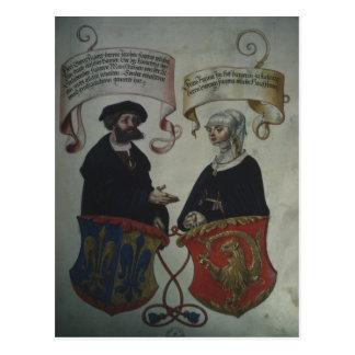 Georg Fugger his wife Regina Imhoff, 'Geheim Postcard
