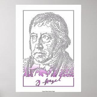 Georg Hegel. German philosopher Poster