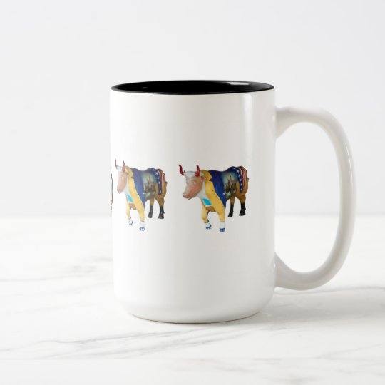 """George and his Senior Officers"" Two-Tone Coffee Mug"