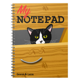George and Lucas photo notepad Notebook