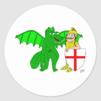 George and the Dragon Classic Round Sticker