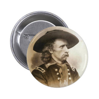 George Armstrong Custer circa 1860s 6 Cm Round Badge