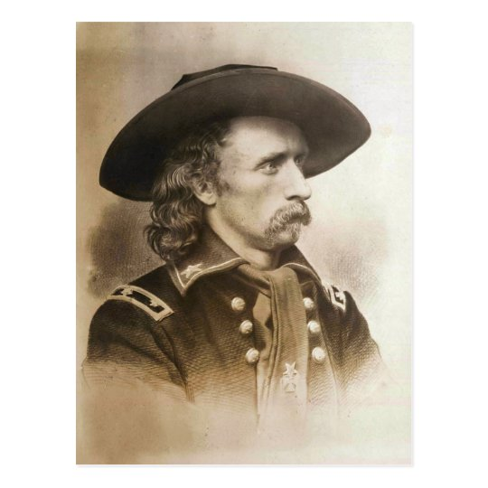 George Armstrong Custer circa 1860s Postcard