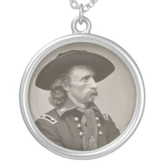 George Armstrong Custer Round Pendant Necklace