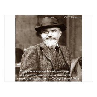 "George B Shaw ""Change Anything"" Wisdom Gifts Postcard"