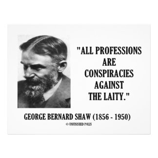 George B. Shaw Professions Conspiracies Laity Full Color Flyer