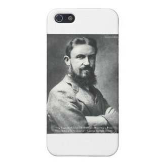 George B Shaw Quarrel/Breeding Wisdom Quote Gifts iPhone 5/5S Cases