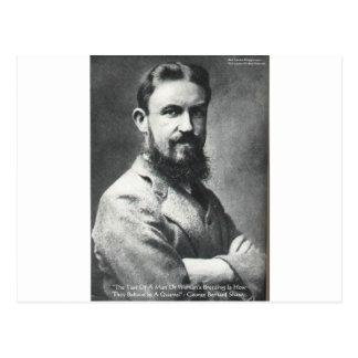 George B Shaw Quarrel/Breeding Wisdom Quote Gifts Postcard