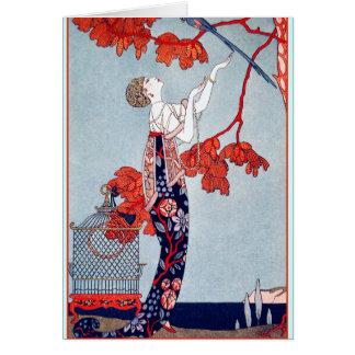 George Barbier L Oiseau Volage 1914 Cards