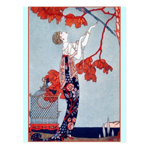 """George Barbier """"L'Oiseau Volage"""" 1914 Postcards"""