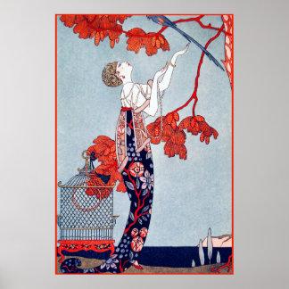 """George Barbier """"L'Oiseau Volage"""" 1914 Print"""