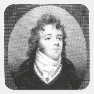 George 'Beau' Brummel Square Sticker