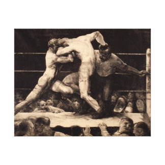 George Bellows A Stag at Sharkey's Art of Boxing Canvas Print