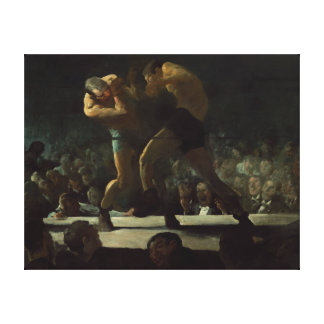George Bellows Club Night The Art of Boxing Canvas Print