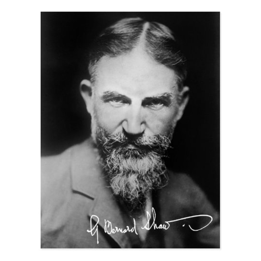 George Bernard Shaw - Portrait Postcard