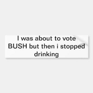 George Bush bumper sticker Car Bumper Sticker