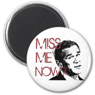 George Bush Miss Me Now 6 Cm Round Magnet