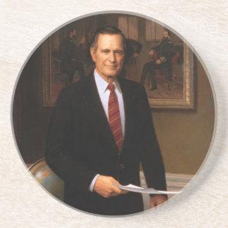George Bush Sandstone Coaster