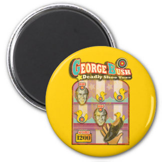George Bush - Shoe Throw Attack! 6 Cm Round Magnet