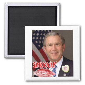 George Bush Valentine's Day Square Magnet
