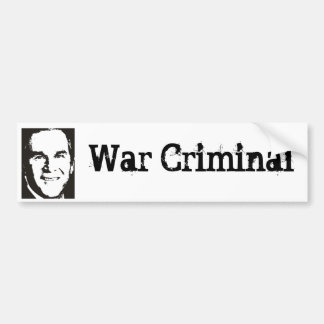 George Bush - War Criminal Bumper Sticker