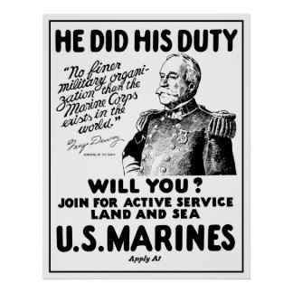 George Dewey US Marines Poster