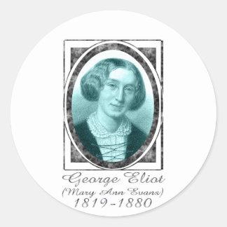 George Eliot Round Sticker