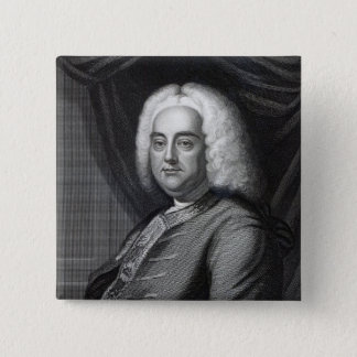 George Frederic Handel, engraved by Thomson 15 Cm Square Badge