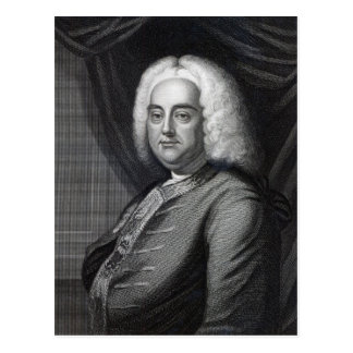 George Frederic Handel, engraved by Thomson Postcard