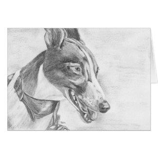 George - Greyhound art card (a11) title=