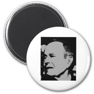 George H Bush sihouette 6 Cm Round Magnet