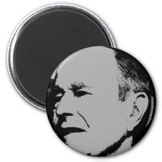 George H Bush sihouette Refrigerator Magnet