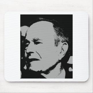 George H Bush sihouette Mouse Pad