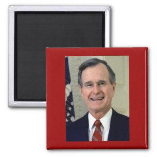 George H. W. Bush 41 Square Magnet