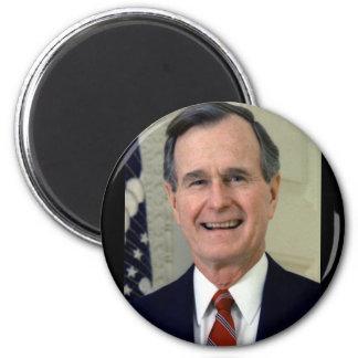 George H. W. Bush 41 6 Cm Round Magnet