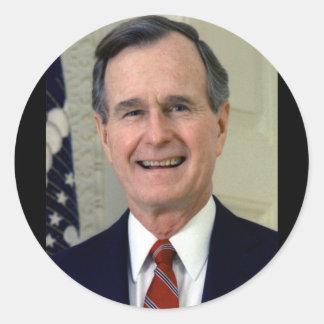 George H. W. Bush 41 Round Sticker