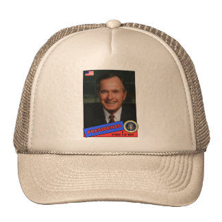 George H.W. Bush Baseball Card Trucker Hat