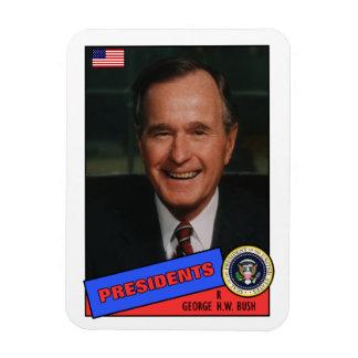 George H.W. Bush Baseball Card Magnet