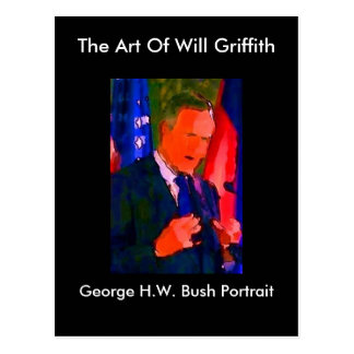 GEORGE H. W. BUSH PORTRAIT POSTCARD