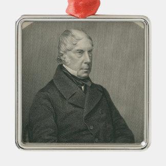 George Hamilton-Gordon, 4th Earl of Aberdeen Silver-Colored Square Decoration