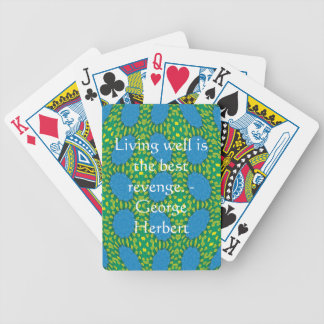George Herbert Quote With Wonderful Design Bicycle Playing Cards